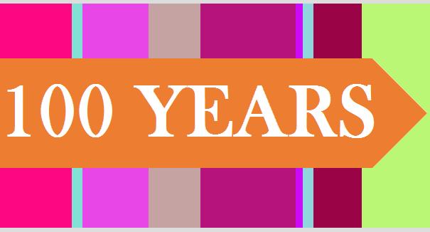 Centennial logo in text